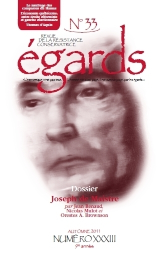 Dossier Joseph de Maistre (Revue Égards)