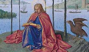 Saint Jean à Patmos par Jean Fouquet