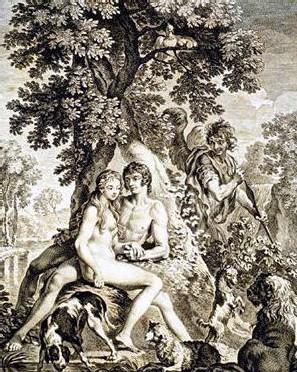 Adam et Eve au Paradis, c'est chaud...