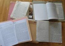 Quelques photos de manuscrits d'AFD et travaux en cours
